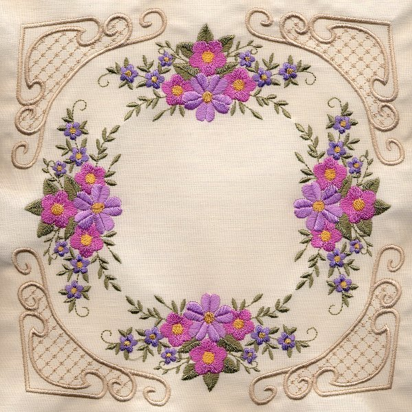 8x8 Floral Corner Quilt 4-5