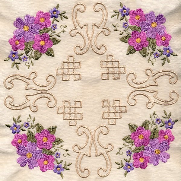 8x8 Floral Corner Quilt 4-6