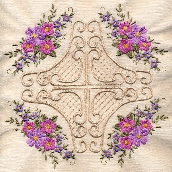 8x8 Floral Corner Quilt 4-8