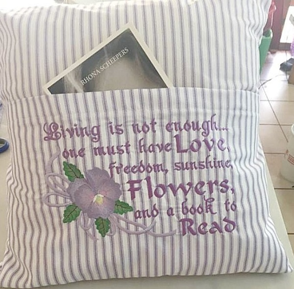 6x10 Pansy Reading Pillow 1