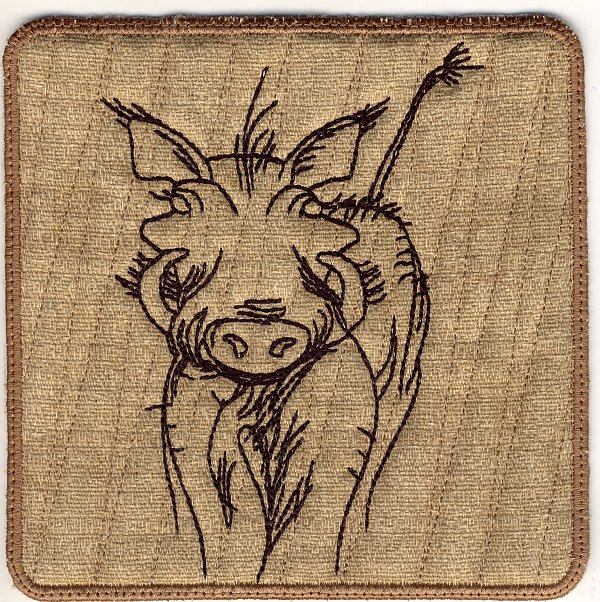 Warthog Mug Rugs and Hot Pads-3