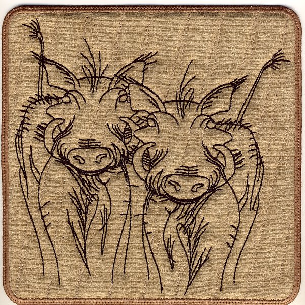 Warthog Mug Rugs and Hot Pads-4
