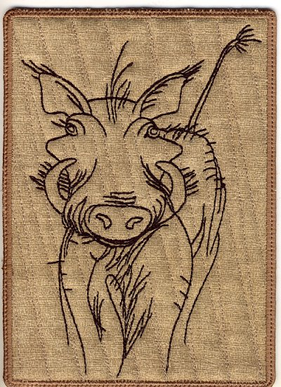 Warthog Mug Rugs and Hot Pads-5