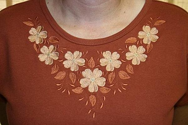 Floral Necklines