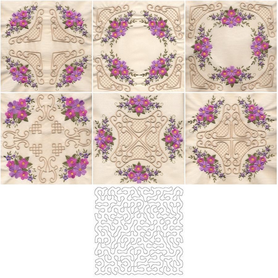 8x8 Floral Corner Quilt 4