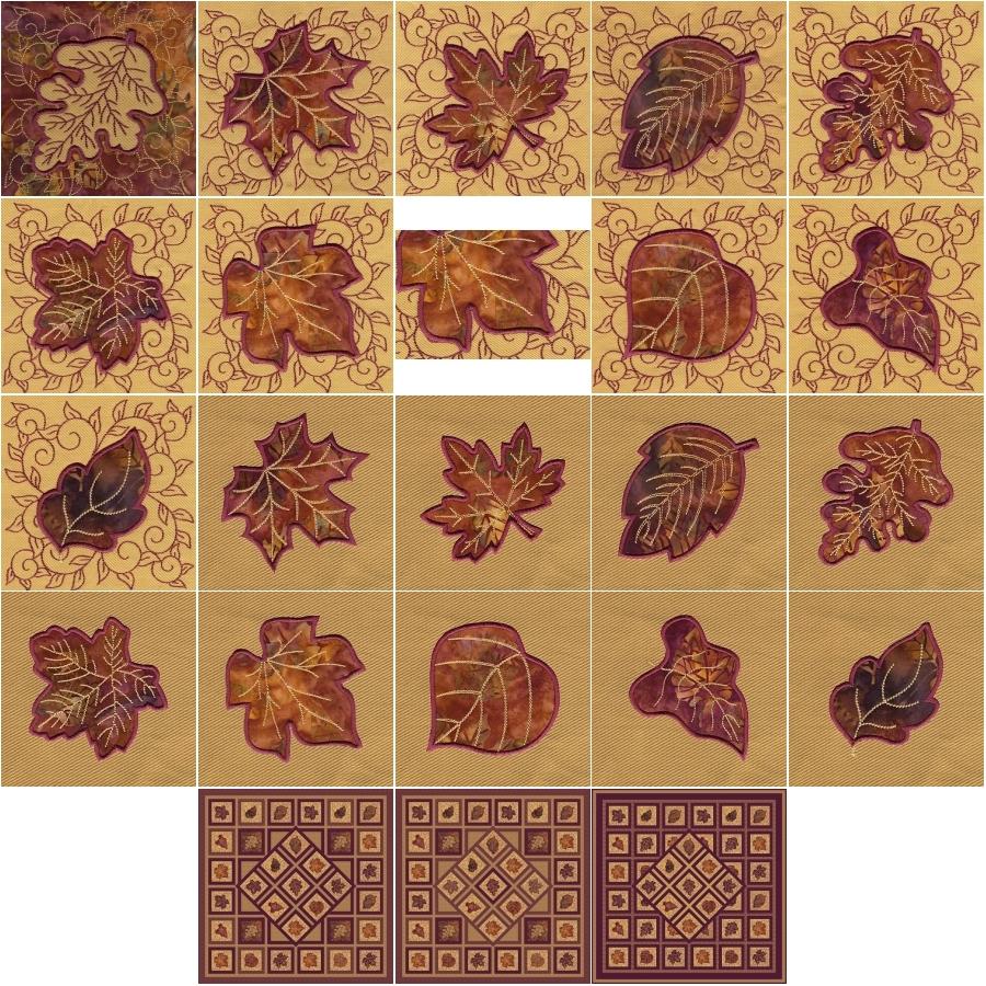 Applique Leaf Blocks