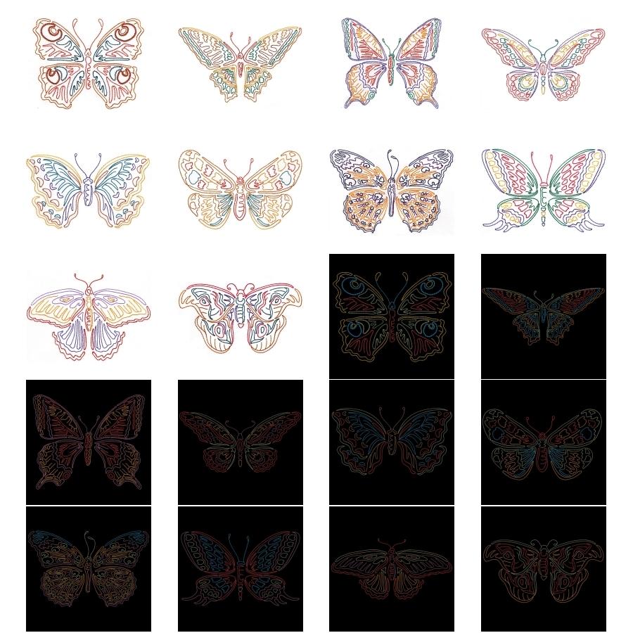 Colorwork Modular Butterflies