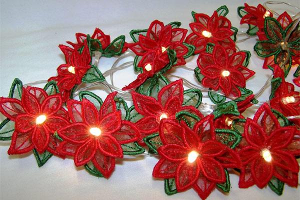 Poinsettia String Lights -3