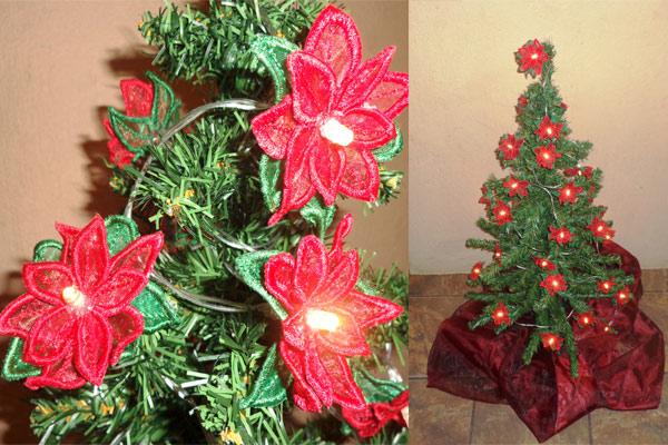 Poinsettia String Lights -4