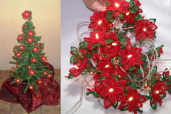Poinsettia String Lights -6