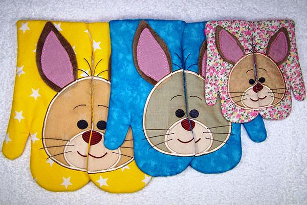 Bunny Oven Glove Set