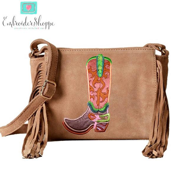 Cascading Swirls Cowboy Boot -6