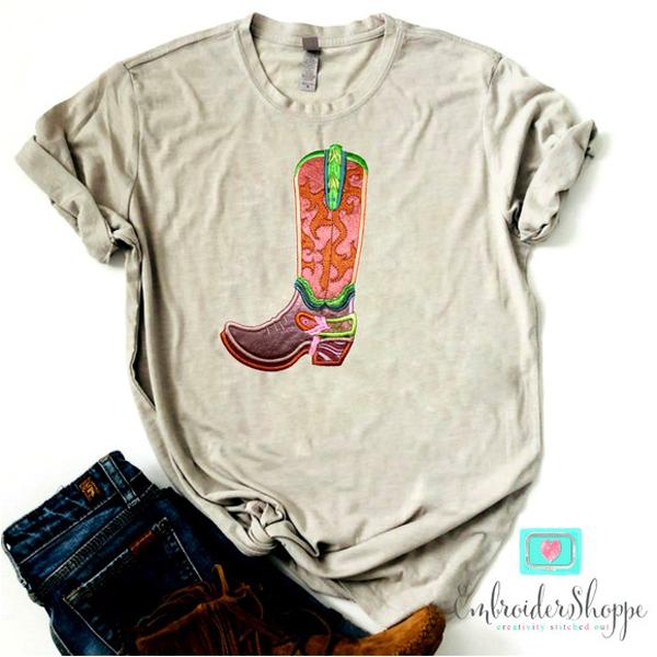 Cascading Swirls Cowboy Boot -9