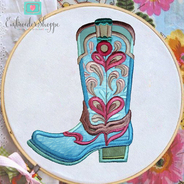 Drops of Jupiter Cowboy Boots Applique -4
