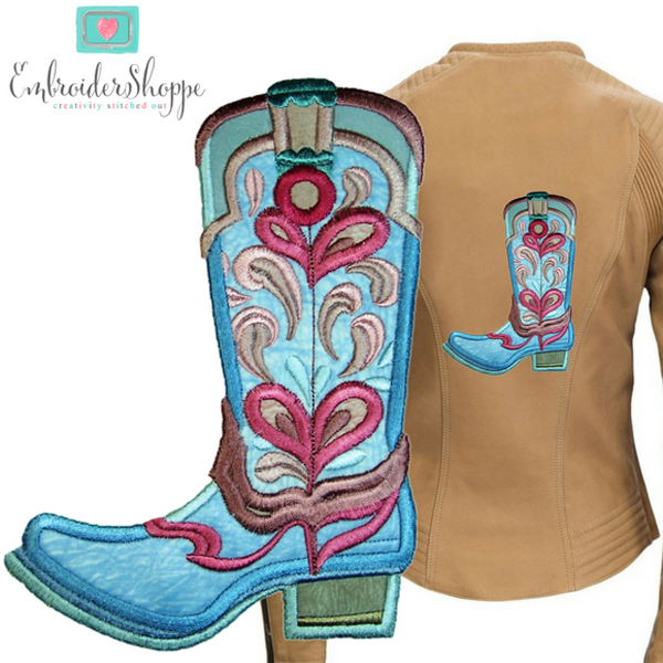 Drops of Jupiter Cowboy Boots Applique -9