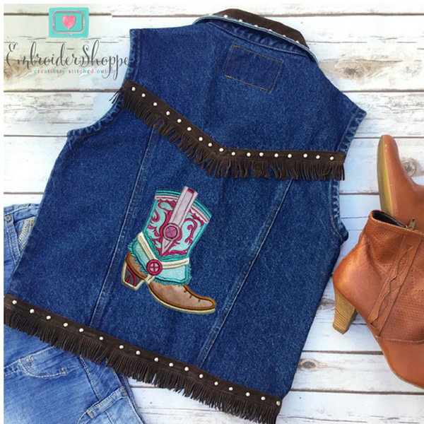 Drops of Jupiter Cowboy Boots Applique -10