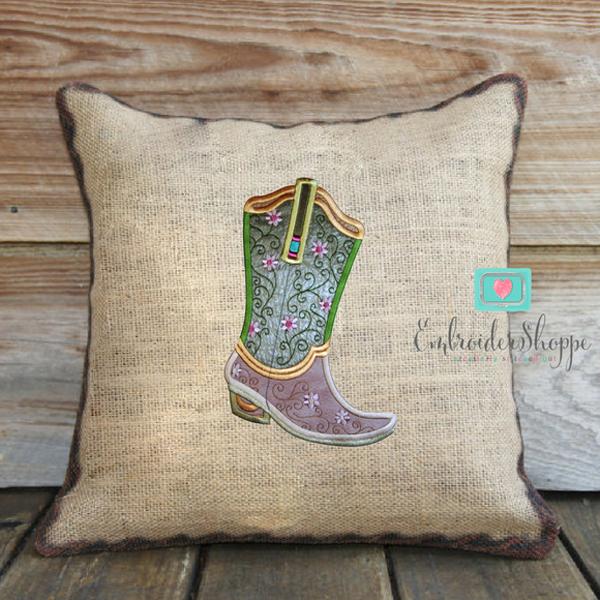 Plumsugar Daisy Boots Applique -4