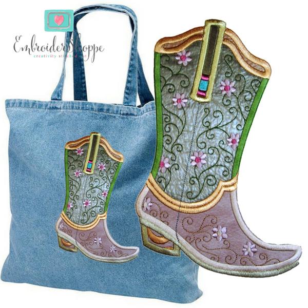 Plumsugar Daisy Boots Applique -5