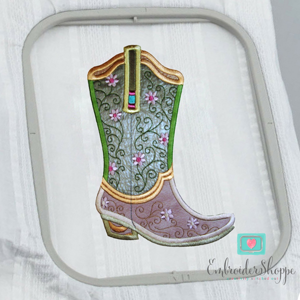 Plumsugar Daisy Boots Applique -7