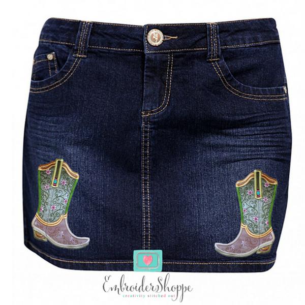 Plumsugar Daisy Boots Applique -8