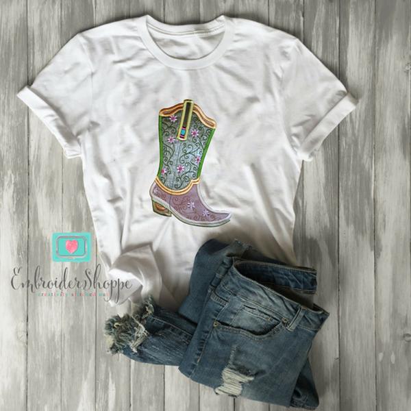 Plumsugar Daisy Boots Applique -9