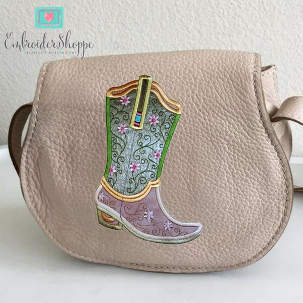 Plumsugar Daisy Boots Applique -10