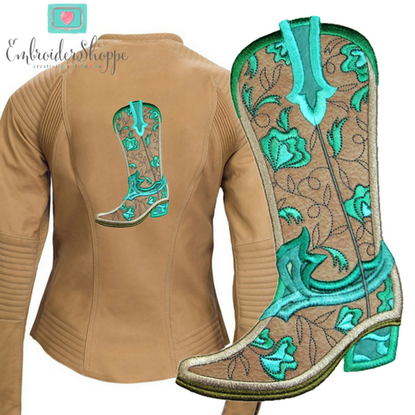 Robin Cognac and Turquoise Foliage -9