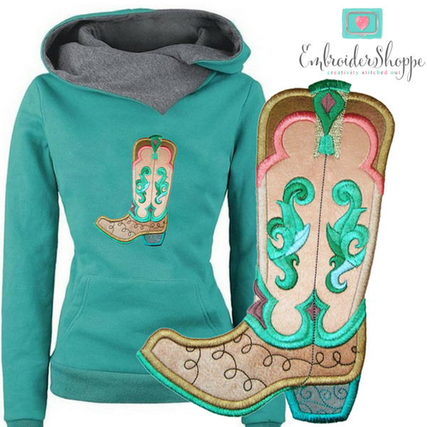Sandy Paisley Jane Boots Applique