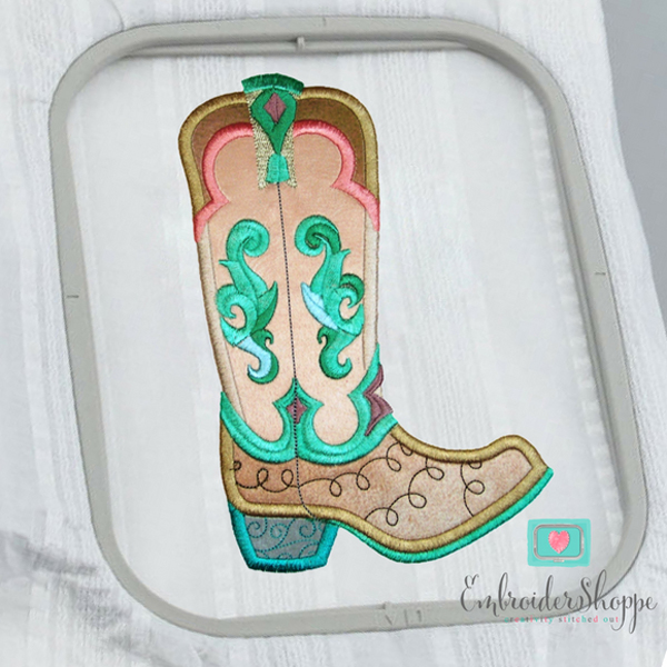 Sandy Paisley Jane Boots Applique -6