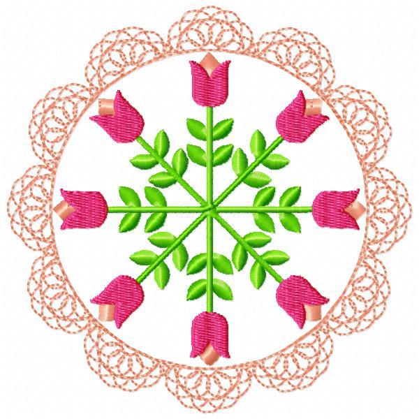 Floral Lace Circles-3