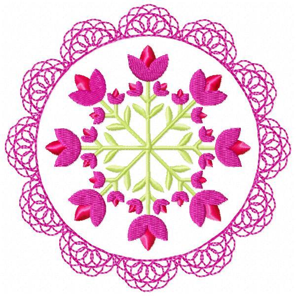 Floral Lace Circles-4