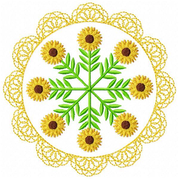 Floral Lace Circles-5