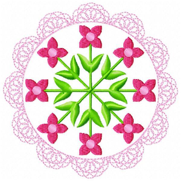 Floral Lace Circles-7