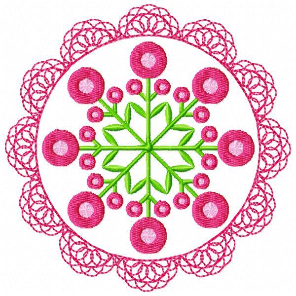 Floral Lace Circles-8