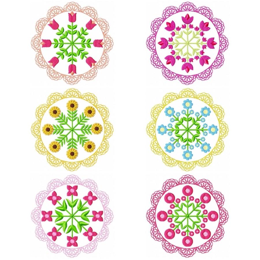 Floral Lace Circles