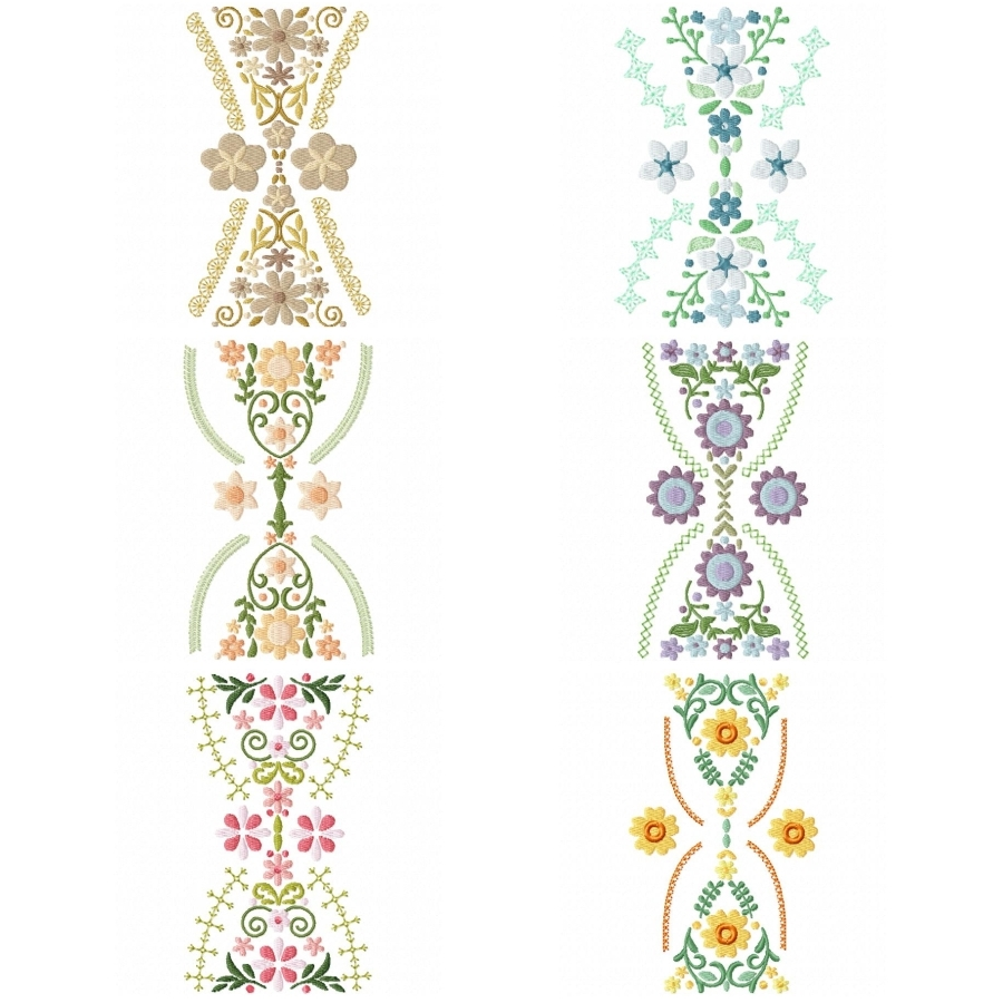 Hourglass Floral Bunting