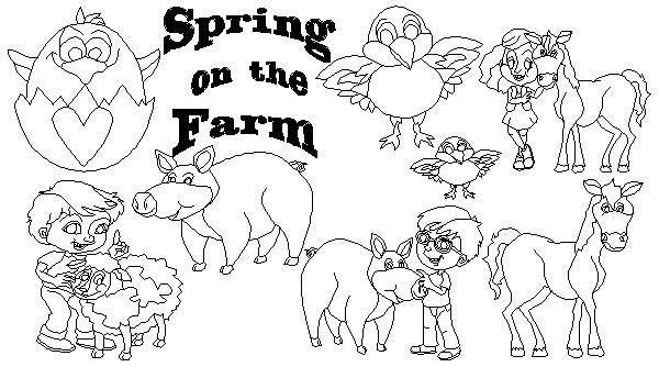 Springtime on the Farm BW-19