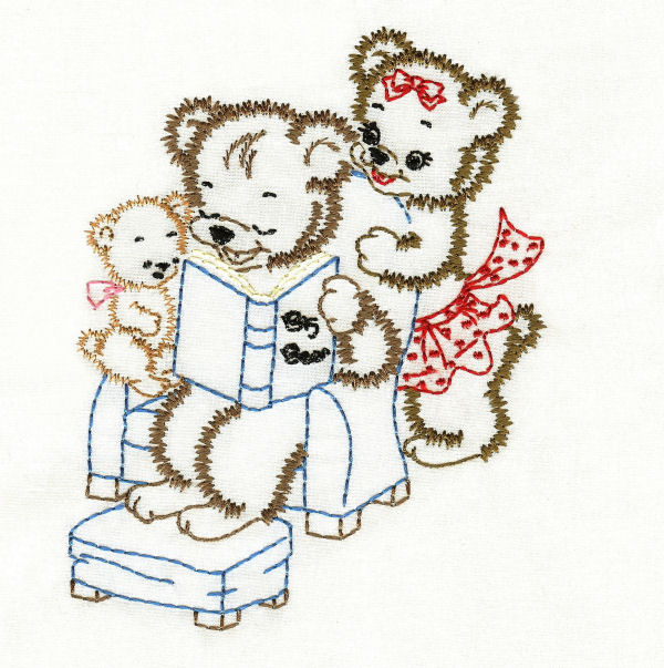 Vintage Bear Family Colorwork
