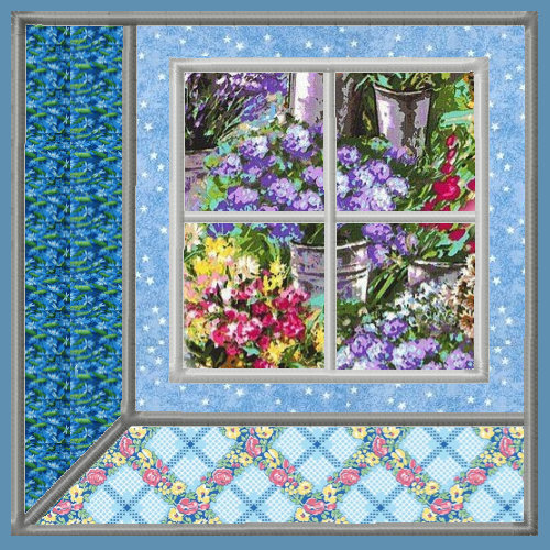Attic Windows Applique Quilt Blocks 3 Sizes-3