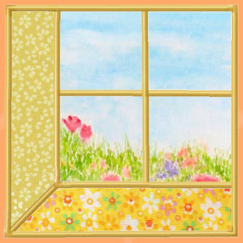 Attic Windows Applique Quilt Blocks 3 Sizes-5