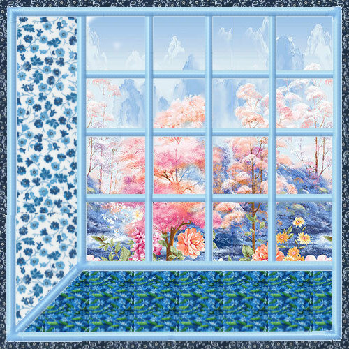 Attic Windows Applique Quilt Blocks 3 Sizes-6