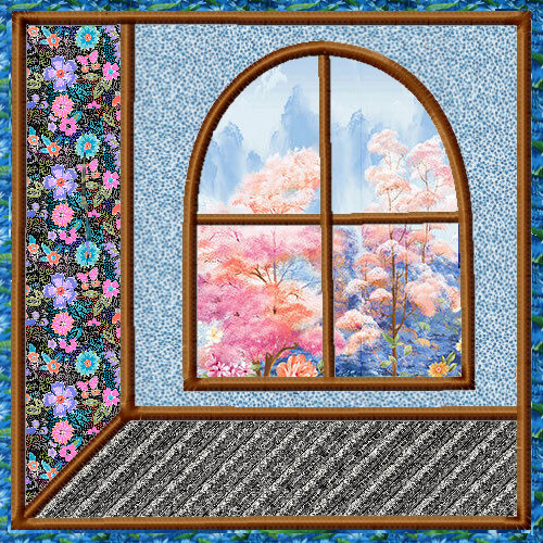 Attic Windows Applique Quilt Blocks 3 Sizes-7