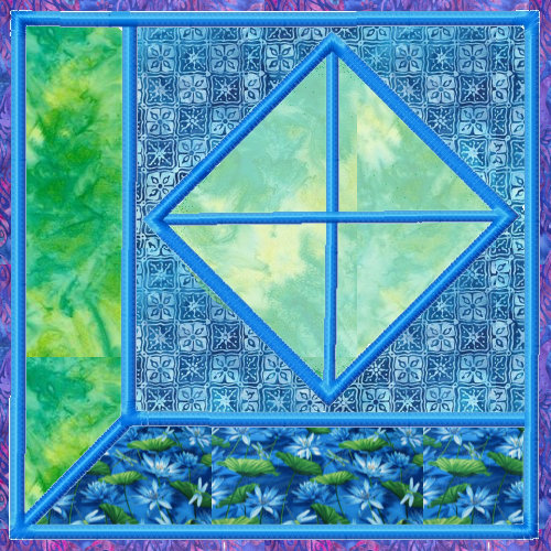 Attic Windows Applique Quilt Blocks 3 Sizes-9