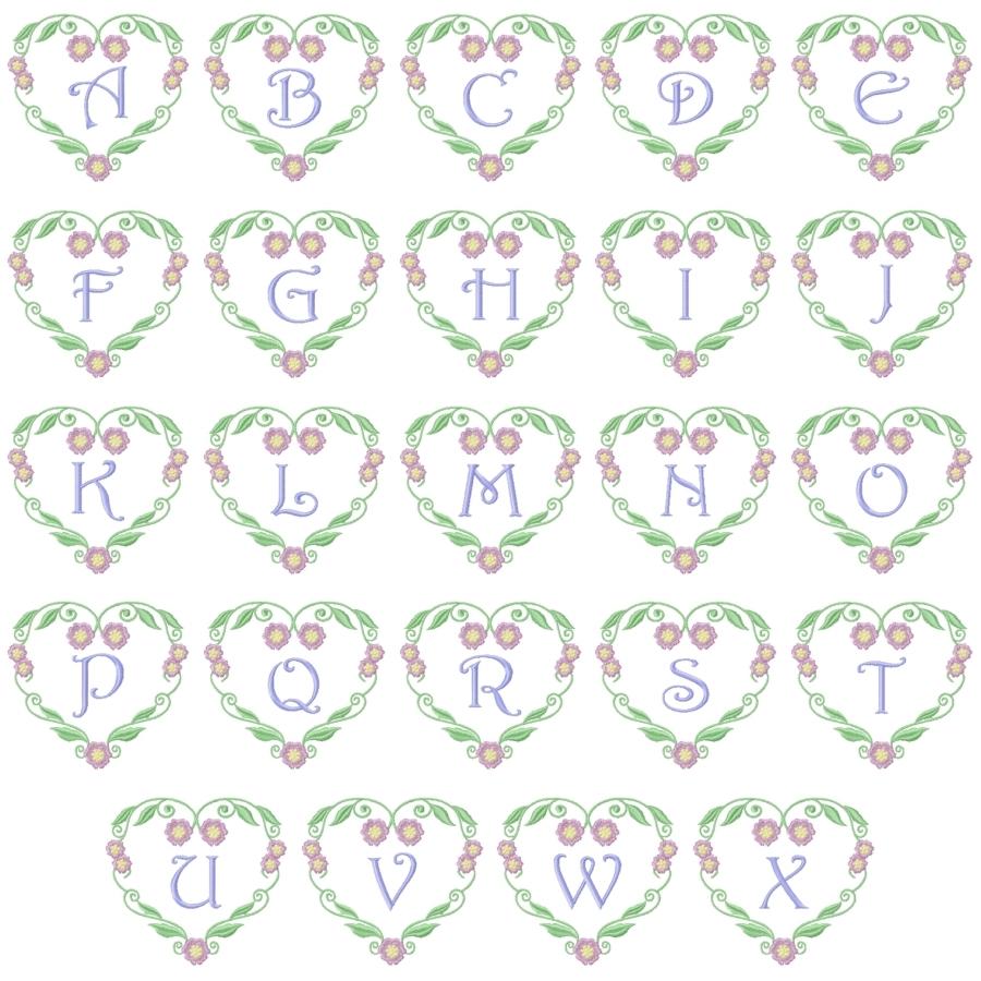 Floral Heart Monogram