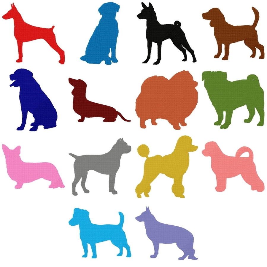 Silhouette Dogs 1