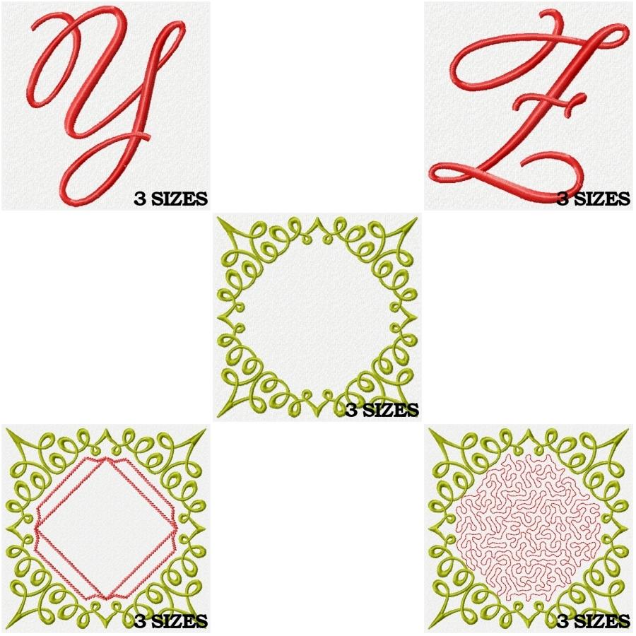 Monogram Scrolls