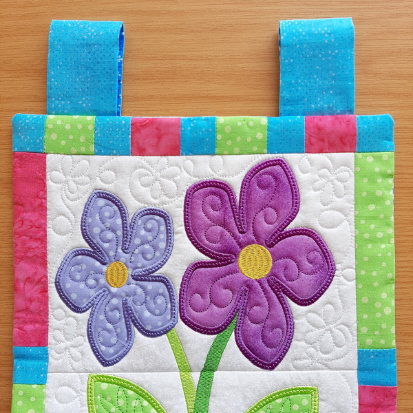 Flower Pot Stack Mini Quilt-8
