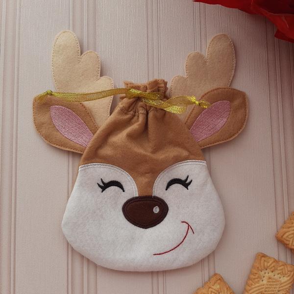 Reindeer Drawstring Bags-5