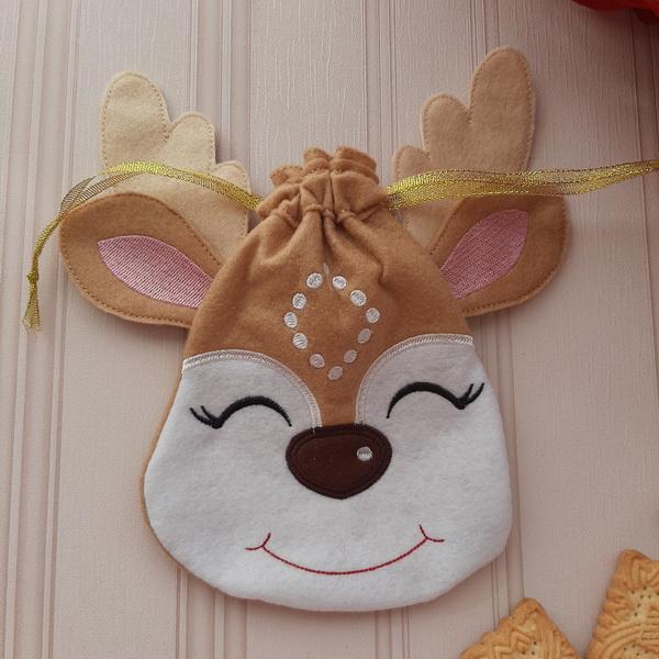 Reindeer Drawstring Bags-6