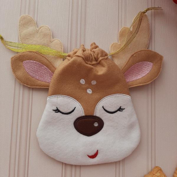 Reindeer Drawstring Bags-10
